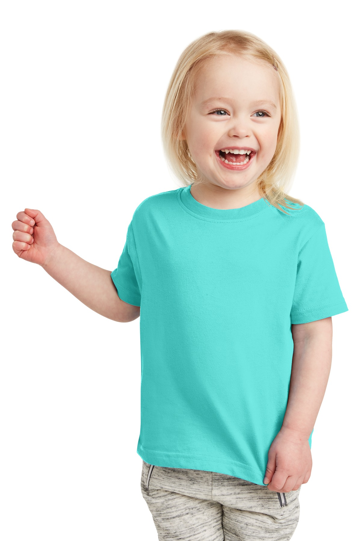 Rabbit Skins Toddler Fine Jersey Ribbed Collar T-Shirt