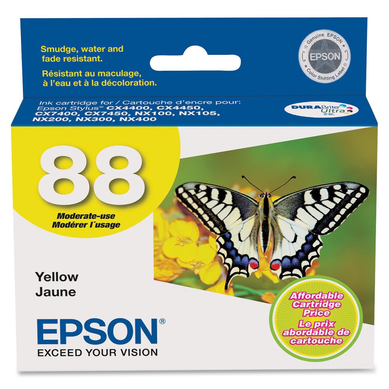 Epson, EPST088420, T088120/220/320/420/520 Ink Cartridges, 1 Each