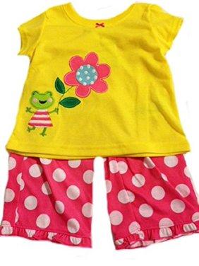 Carter's Little Girls' 2 Piece Yellow Comfy Fit Pant Set Pajamas, 3T
