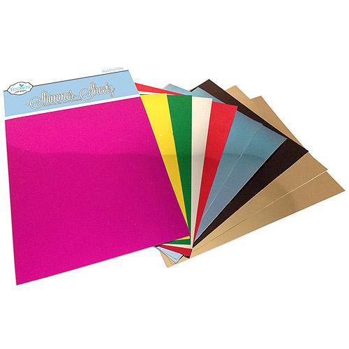 """Metallic Mylar Shimmer Sheetz Sampler, 5"""" x 4"""" 10pk, Multicolor"""