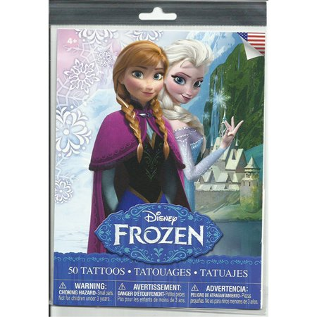 Frozen 50Pc Tattoos, PartNo LP36370.A, by Savvi Corporation, Toys, Stickers & Ta (Tattoos Games)