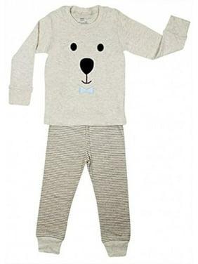 "Elowel ""Teddy Bear Face"" 2 Piece Pajama Set 100% Cotton - 6 Years"