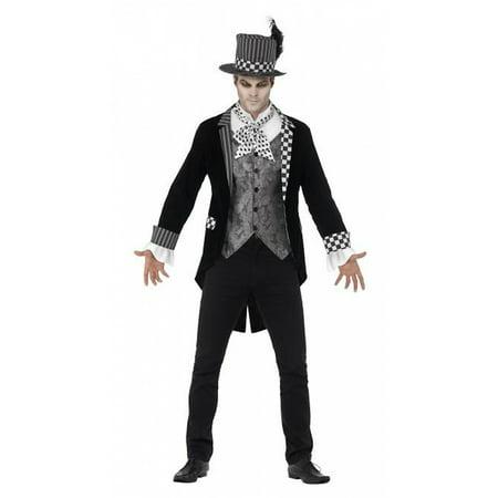 Deluxe Dark Hatter Costume, Large - Deluxe Tea Party Hatter Costume