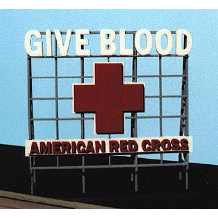 Blair Line Ho Scale Building - American Red Cross Billboard Kit For HO, S, O Scale