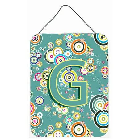 Carolines Treasures CJ2015-GDS1216 Letter G Circle Circle Teal Initial Alphabet Wall and Door Hanging Prints - image 1 of 1