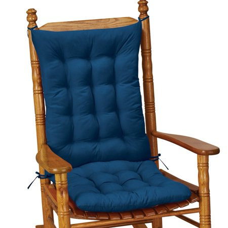 Quilted Chair Cushion Set - Perfect for Rocking Chairs, Dining Chairs or Armchair, Blue ()