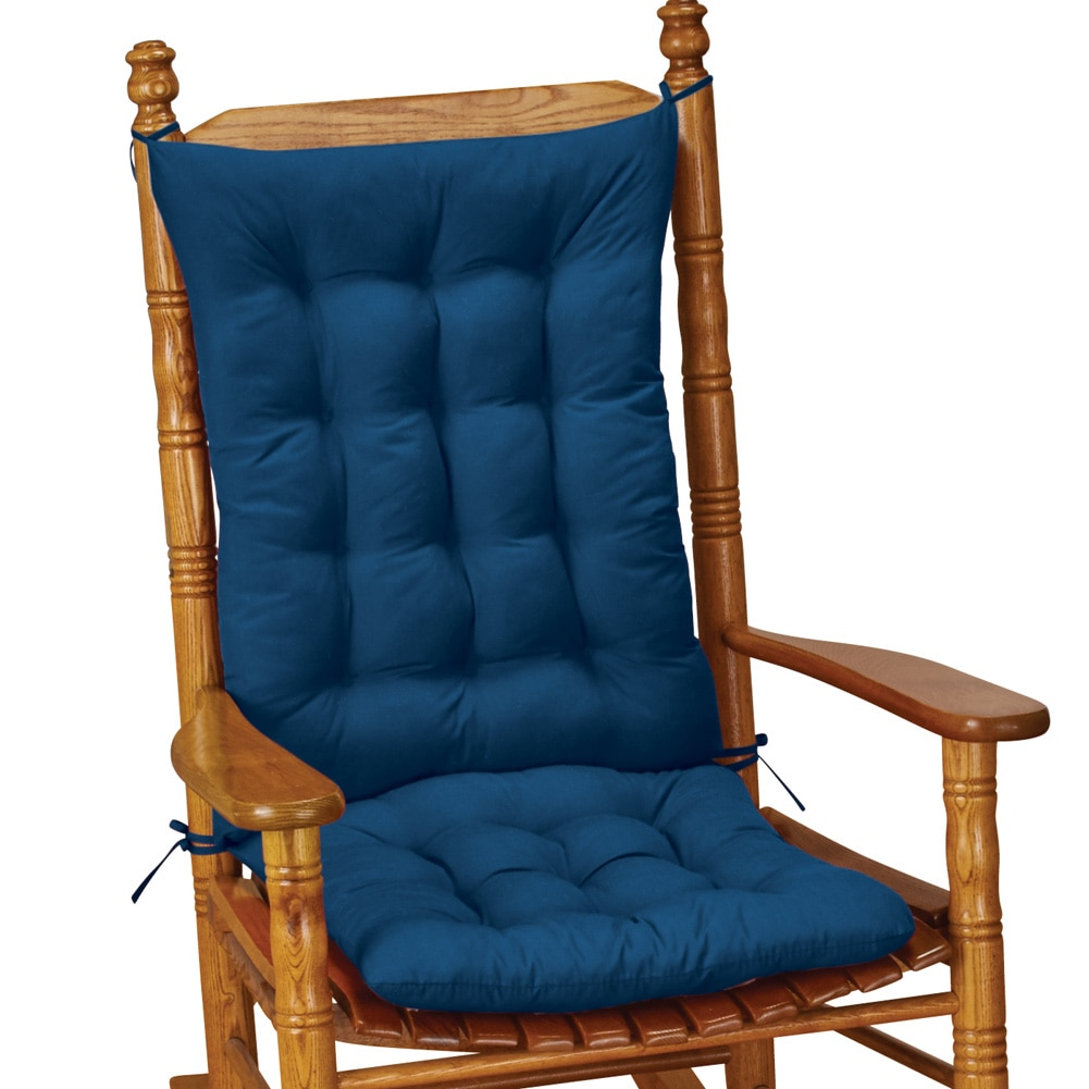 Quilted Rocking Chair Cushion Set, Blue