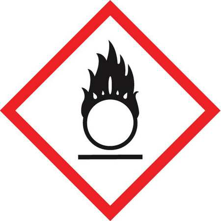 Label,Flaming Circle,1x1In,Poly,500 Roll ACCUFORM LZH602EV5
