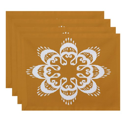 Bungalow Rose Meetinghouse Ikat Mandala Geometric Print Placemat (Set of 4)