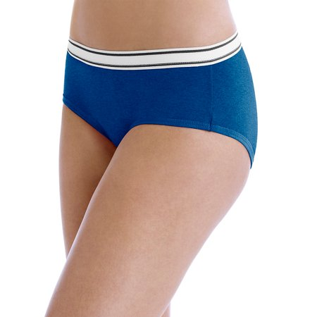 """Hanes Womens Cotton Sporty Hipsters with Cool Comfortâ""""¢ Fashion Assorted 6-Pack. PP41SF - image 1 de 1"""