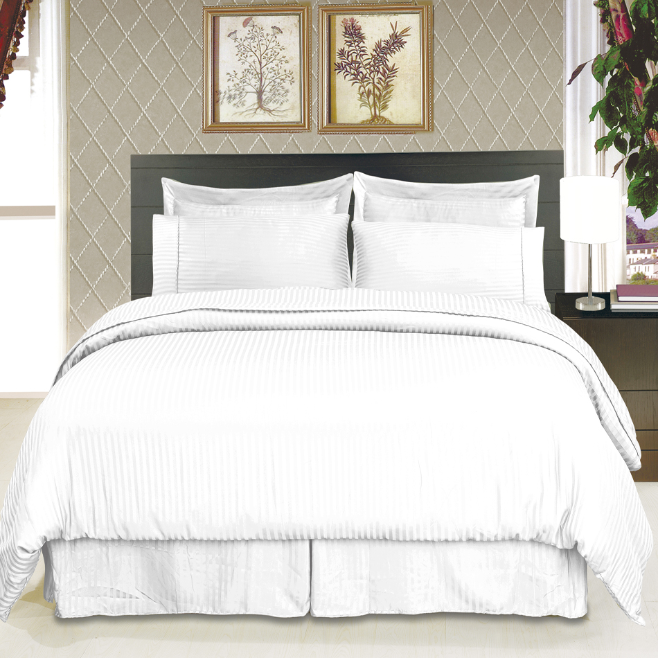 King size Microfiber Stripe Sheet set (taupe)