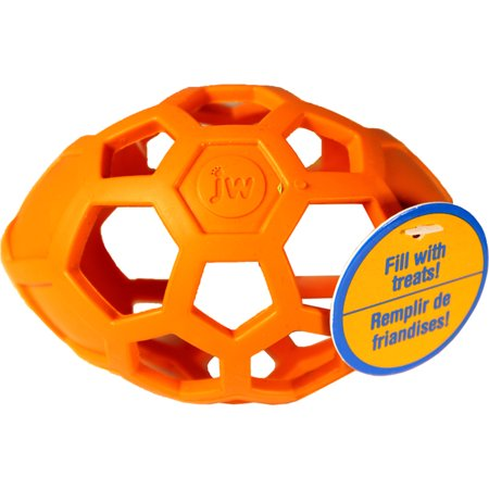 JW Pet Company Holee Roller Egg Dog Toy Balls Small Expansion on the best selling Hol-ee Roller design Center cavity holds squeaker ball that helps keep dog interest with closed off ends Available in 2 sizes to match the Hol-ee Rollers: small and medium Made of durable natural rubber Comes in assorted colors