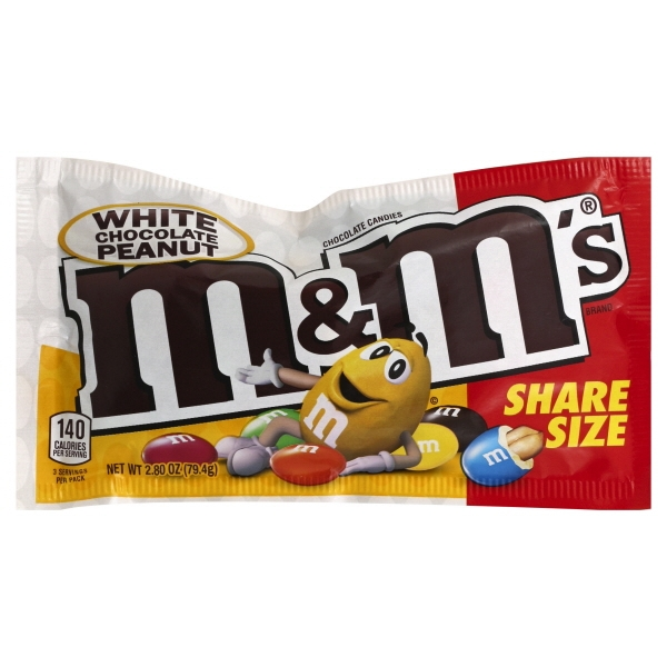 Mars Inc M&m's White Chocolate Peanut Sharing Sz