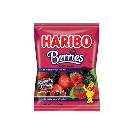 Haribo Raspberries Gummi Candy, 5 Oz