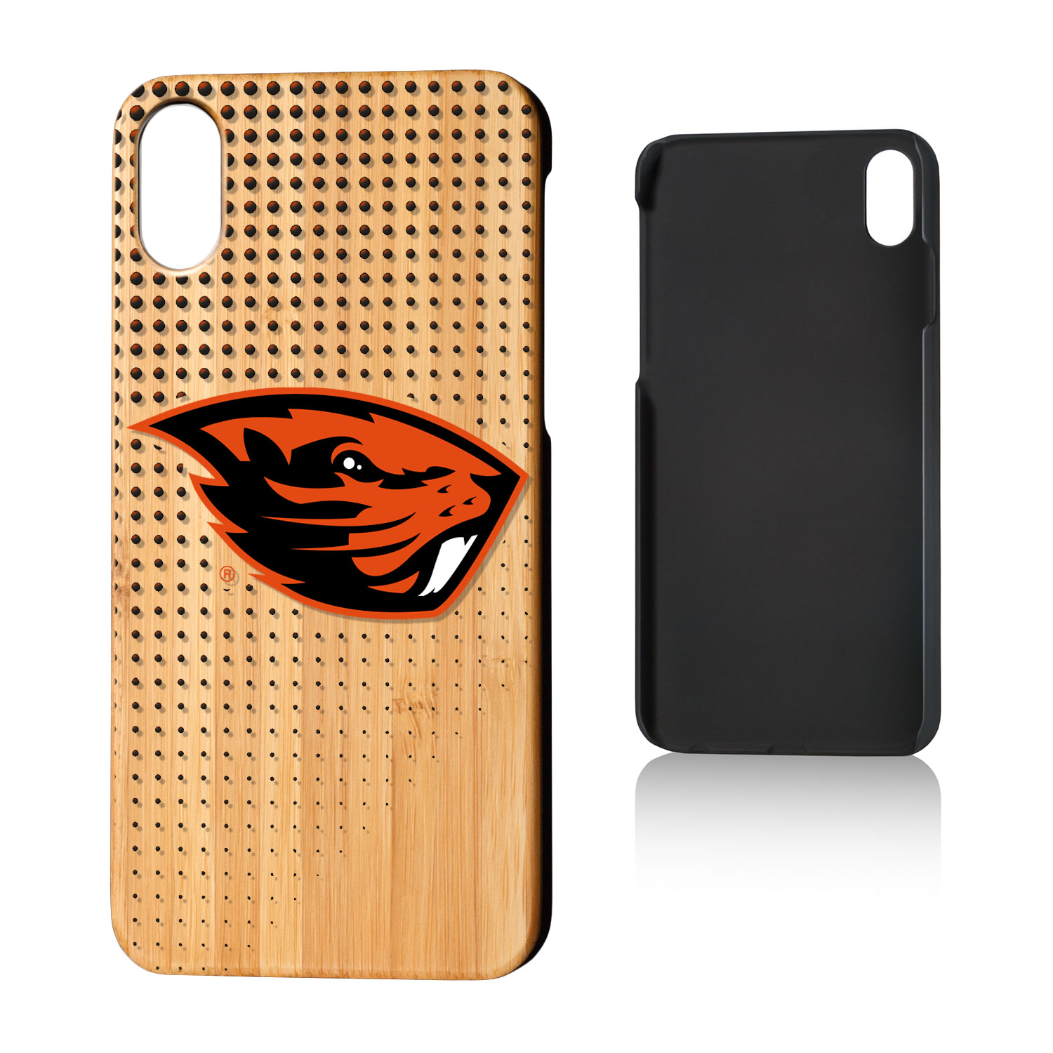 OSU Oregon State Beavers Dots Bamboo Case for iPhone X