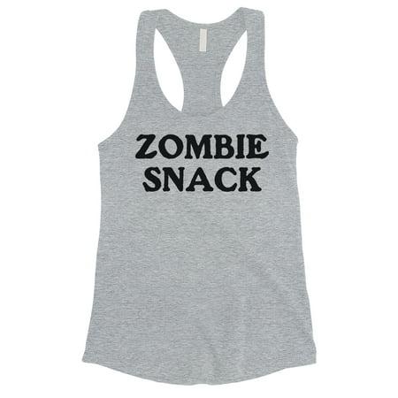 Zombie Snack Womens Grey Creative Silly Sweet Tank Top Friend Gift Sweet Womens Tank Top
