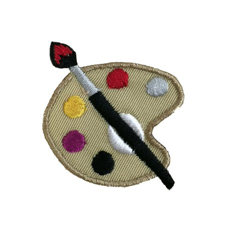 Artist Paint Palette - Painting/Art/Crafts - Iron on Applique/Embroidered Patch