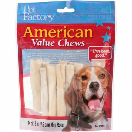 Pet Factory American Value Chews Mini Rolls 14 ct (American Express Rewards Best Value)