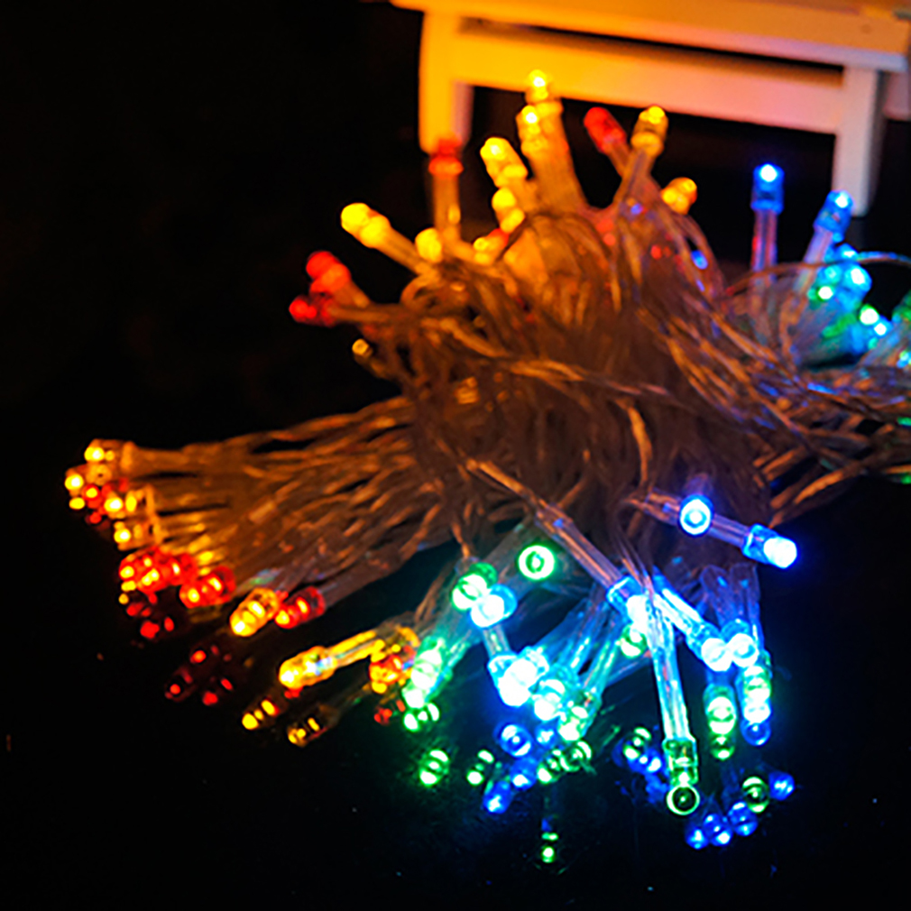 Multicolor Cotton Ball Fairy Led String Lights Wedding Party Christmas Battery Powered~~