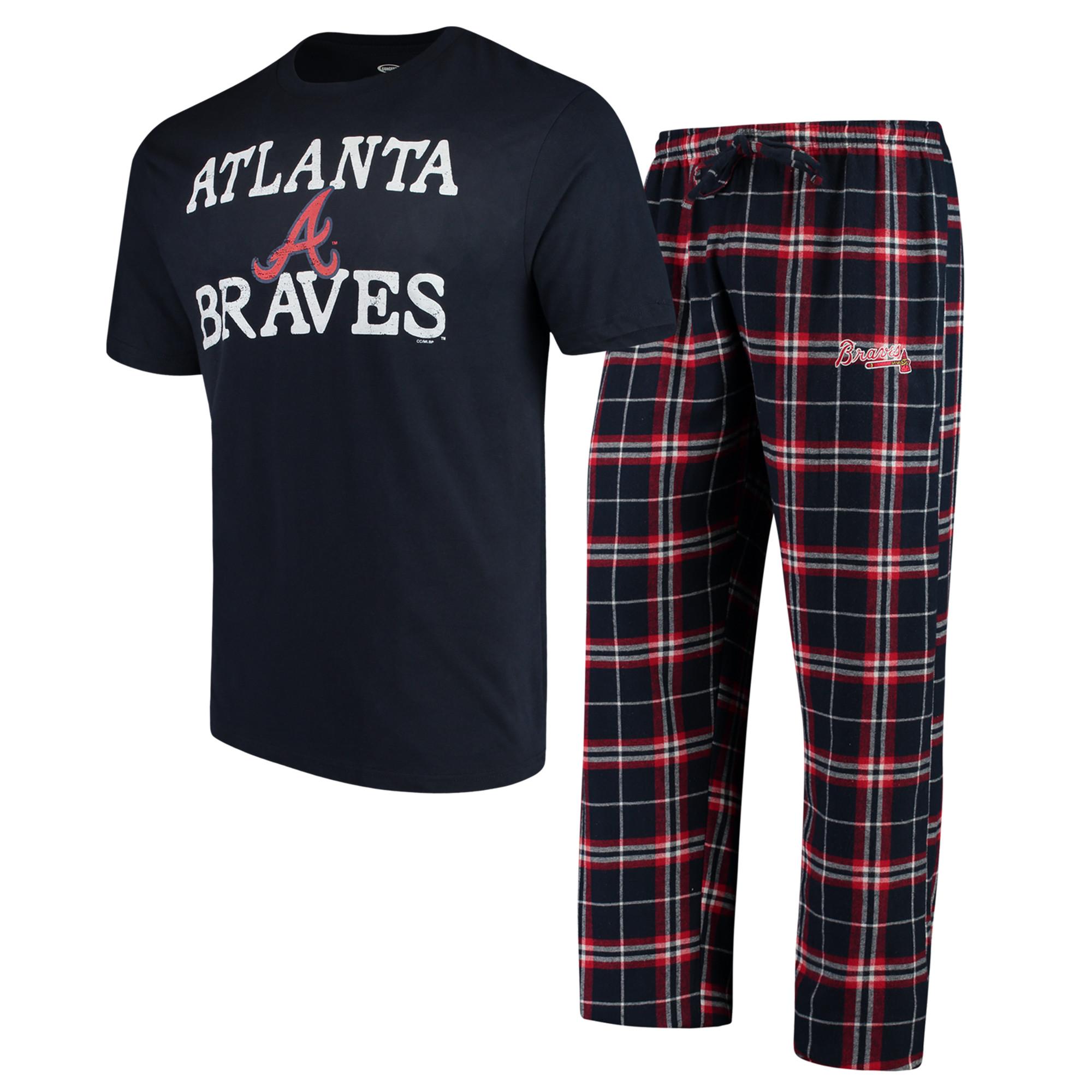 Atlanta Braves Concepts Sport Duo Pants & Top Set - Navy