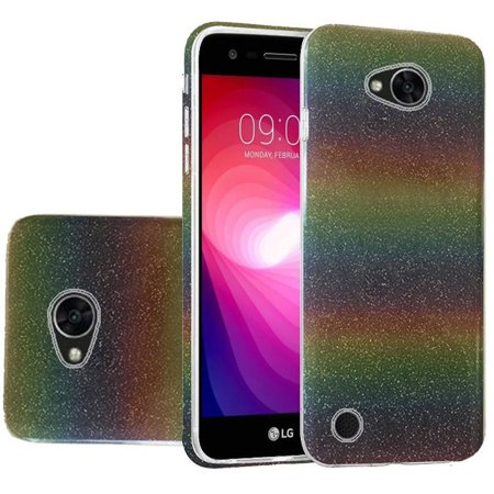insten Glitter Hard Plastic/TPU Rubber Case Cover for LG Fiesta LTE/K10 Power/X Charge/X Power 2, Colorful