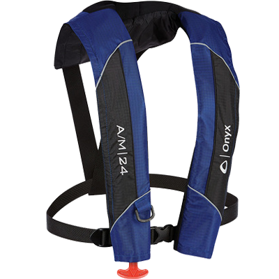 Onyx Outdoors A/M 24 Auto/Manual Life Jacket, Blue