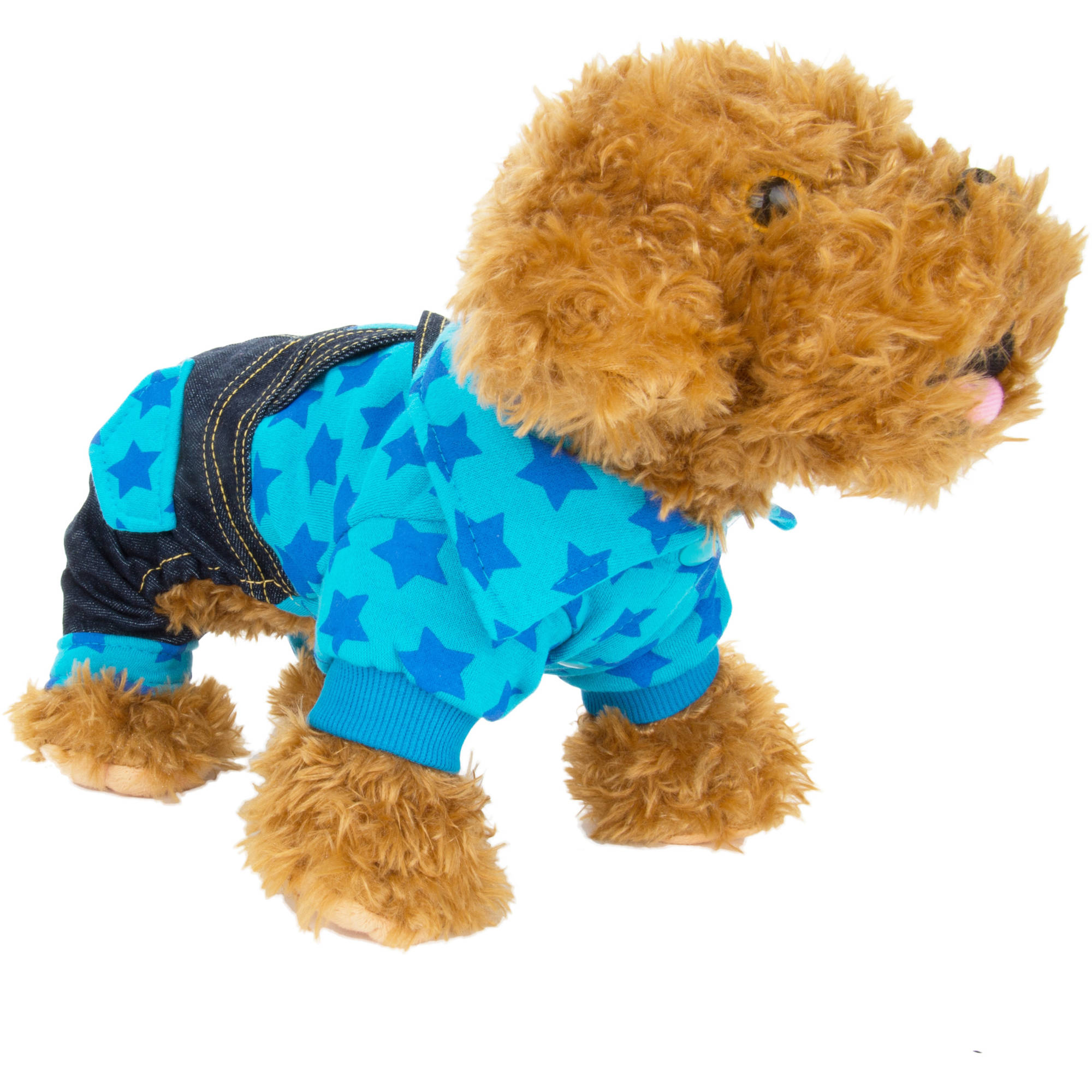 CUECUEPET Cotton Denim Overall Suspenders Suit Single Piece for Dogs or Puppies