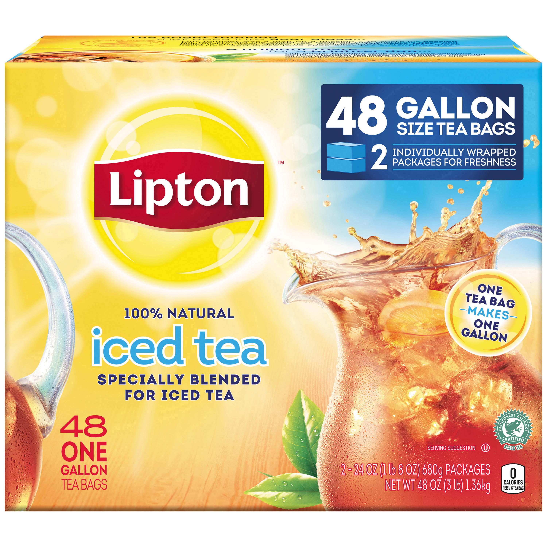 Lipton Unsweetened Gallon-Sized Black Iced Tea Bags, 48 ct