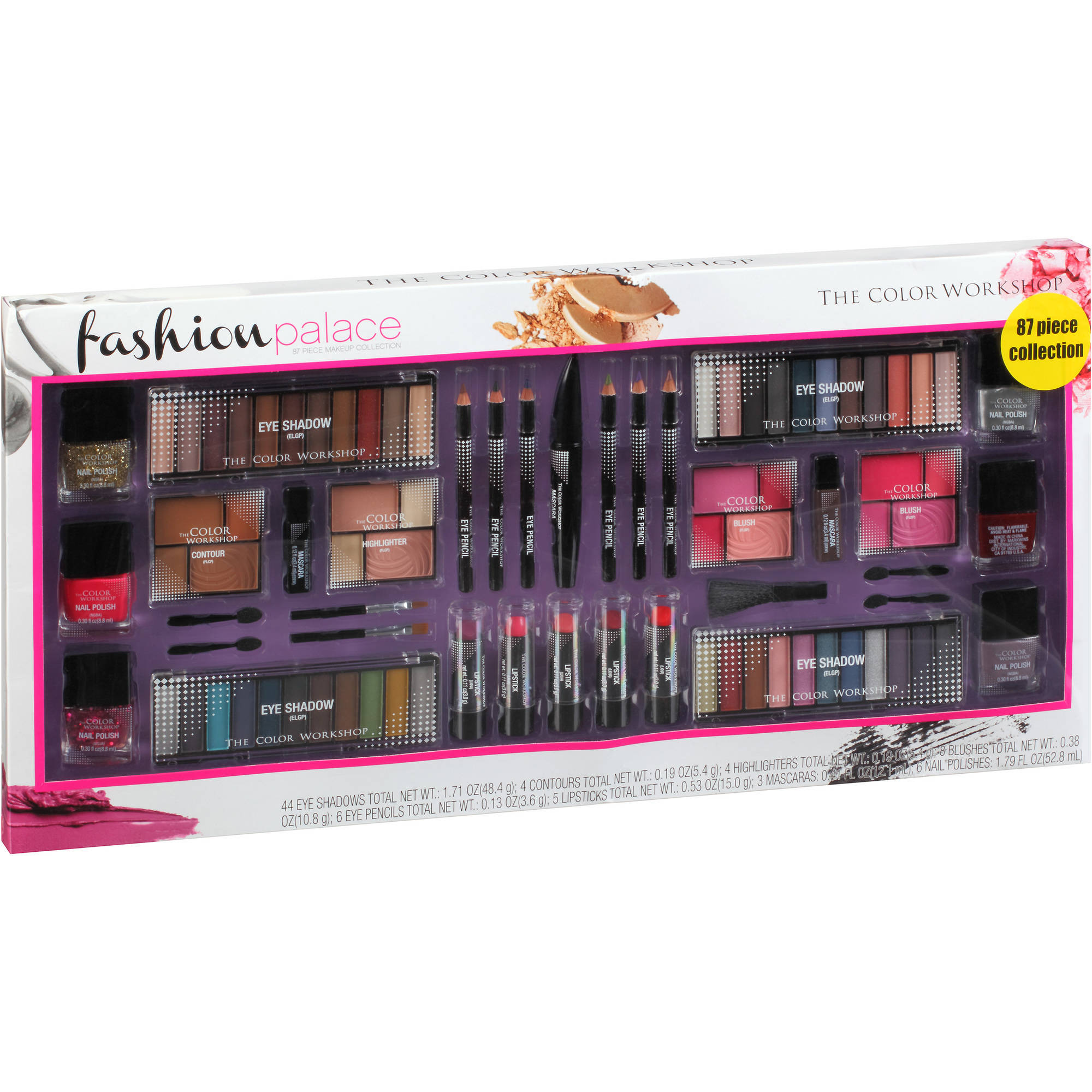 The Color Workshop Fashion Palace Makeup Collection, 87 pc