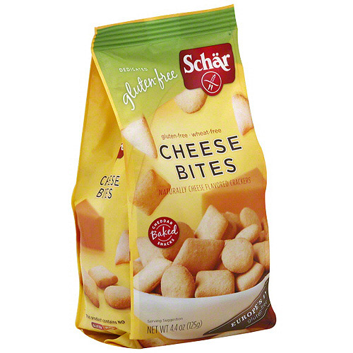 Schar Cheese Bites Crackers, 4.4 oz (Pack of 6)
