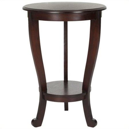 Hawthorne Collection Wood Pedastal Side Table in Dark Cherry Dark Cherry Side Server