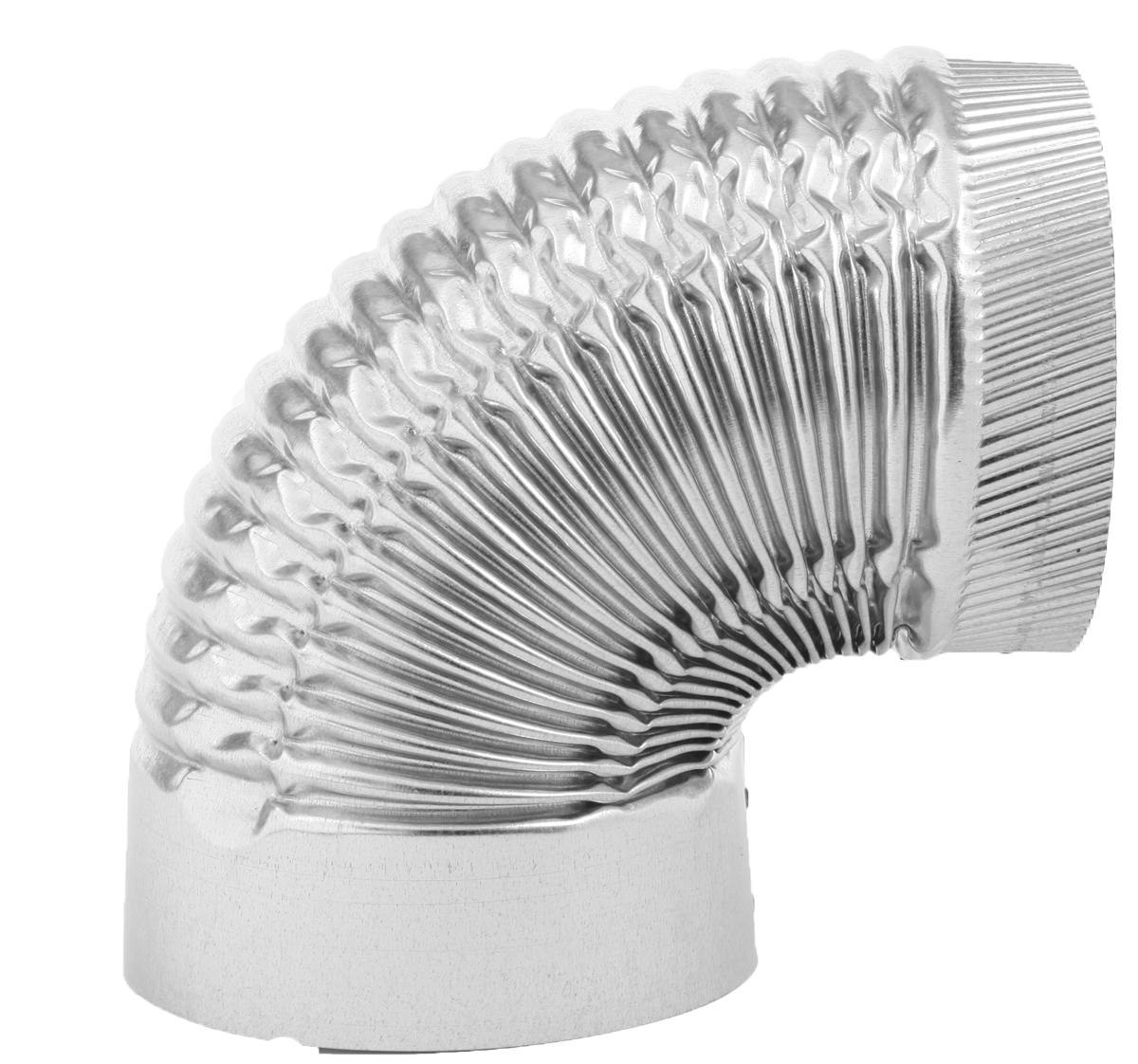 Imperial GV0326 1-Piece Corrugated Stove Pipe Elbow, 6 in