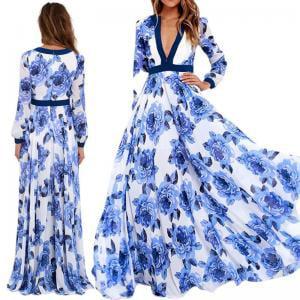 Women Lady Summer Long Maxi BOHO Evening Party Beach Dresses Sundress Plus Size