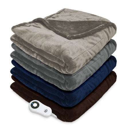 Serta Luxury Plush Electric Heated Throw