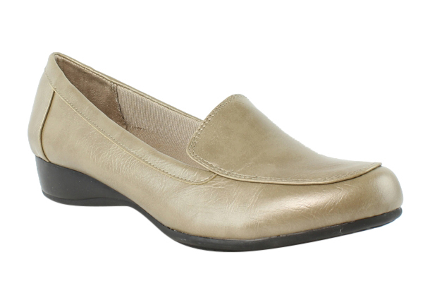 Lifestride Womens C8204S1-900 Gold Oxfords Flats Size 8 New by LifeStride