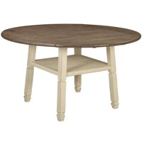 Ashley Bolanburg Drop Leaf Counter Height Dining Table in White