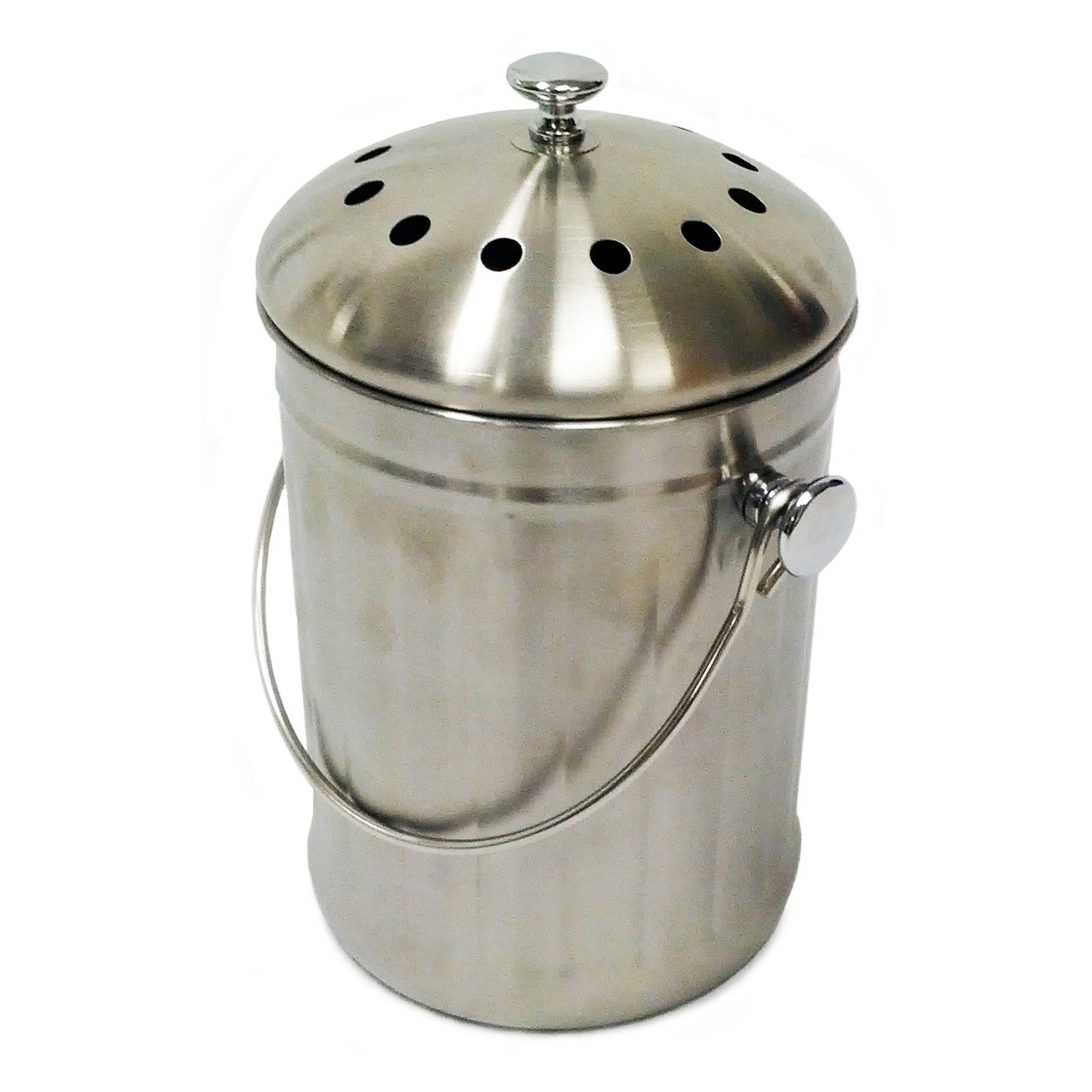 Compost Wizard Kitchen Accents, Stainless Steel Kitchen Composter by Generic