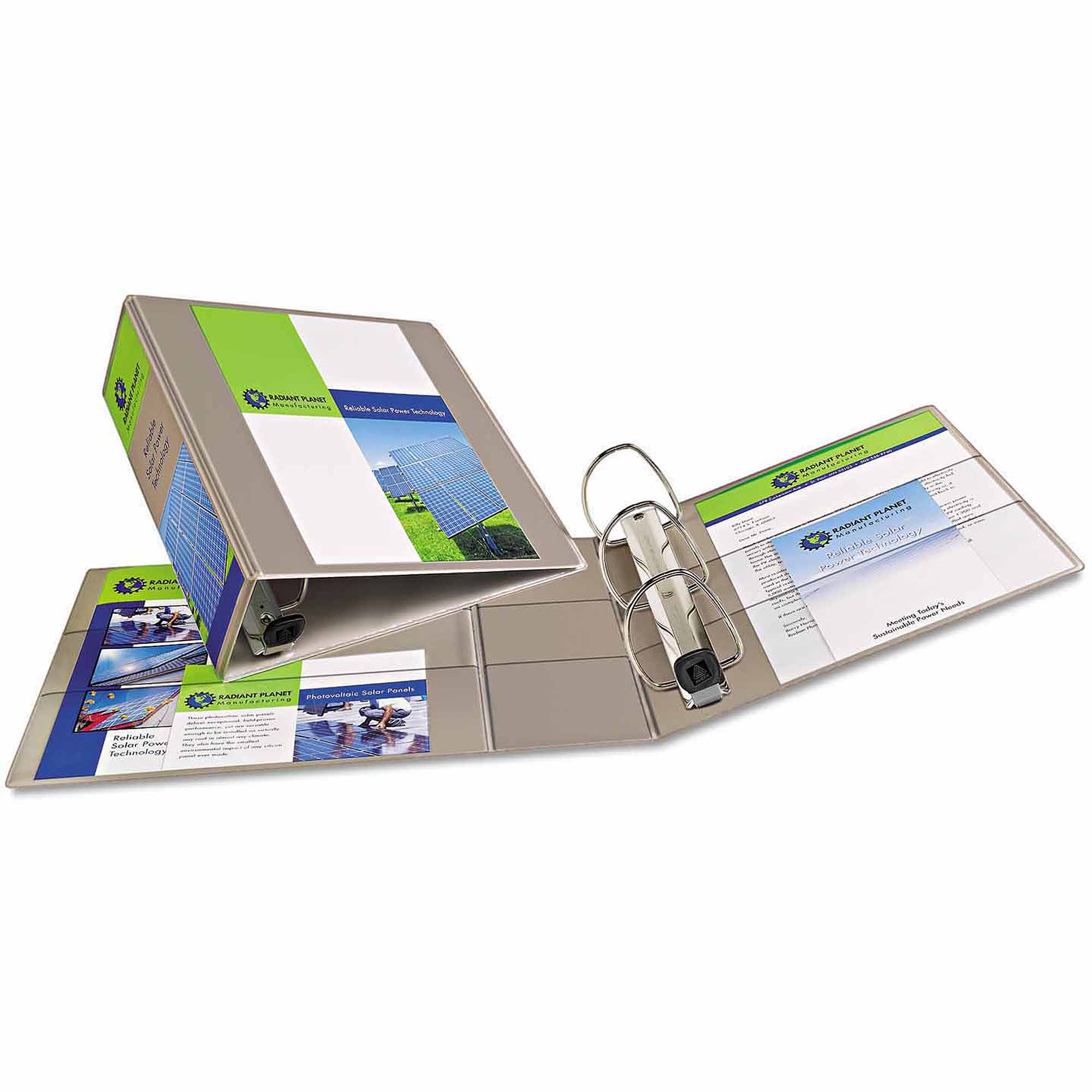 """Avery Heavy-Duty View Binder with 1-Touch EZ D-Rings, 4"""" Capacity, Sand"""