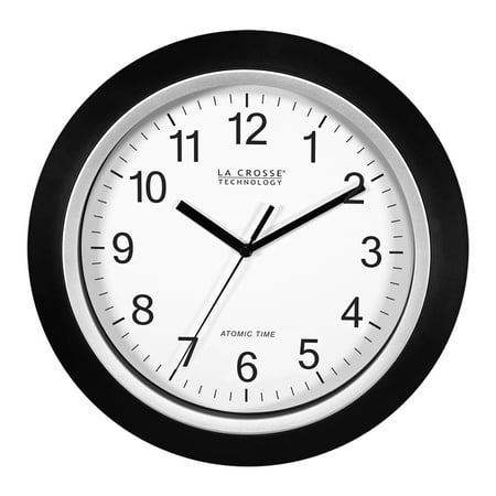 Bulldogs 12 Wall Clock (Better Homes & Gardens W85961 12 Inch Analog Atomic Black Wall Clock )