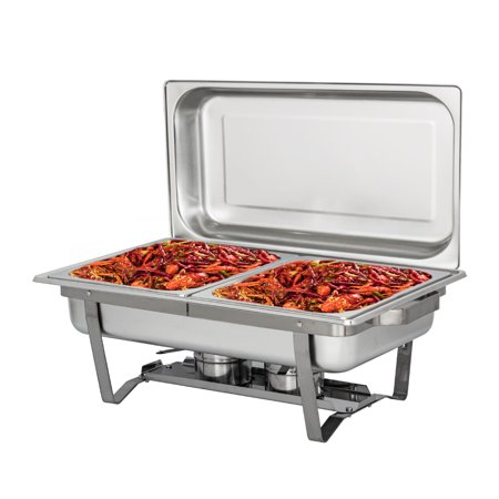 Zimtown 4Lx2 Full Size Stainless Steel Chafing Dishes Buffet Set, Pack 1 (Stainless Buffet Pan Full)