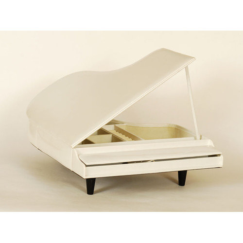 Ashton Sutton Piano Shaped Jewelry Box in White