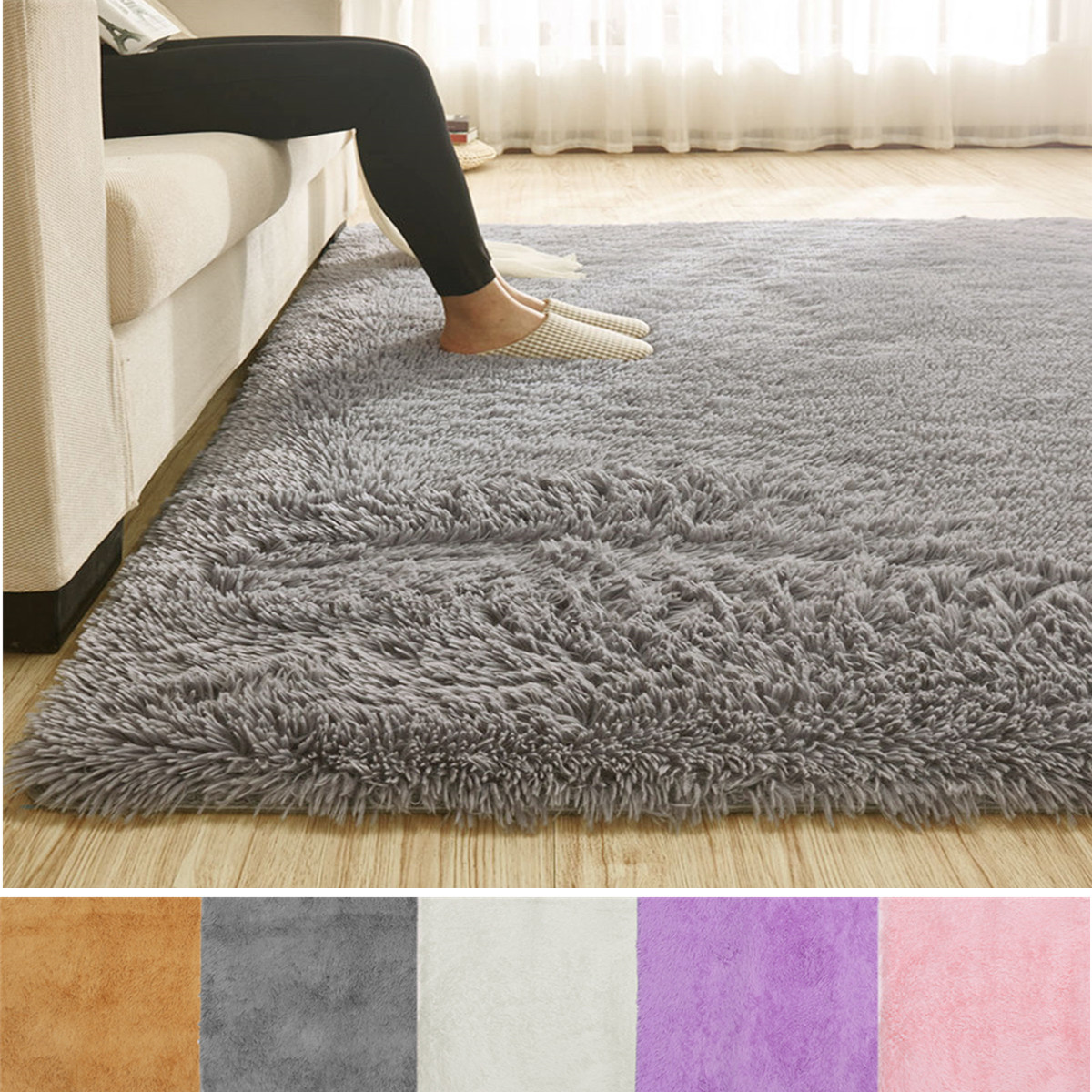 Soft Fluffy Floor Rug by