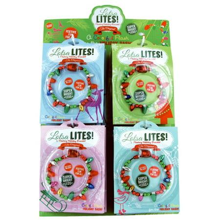 Flashing Holiday Bulb Bracelets - Flashing Bracelets
