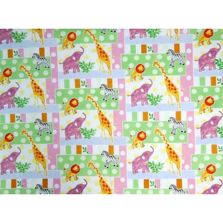 Sheetworld Fitted Pack N Play  Graco  Sheet   Jungle Animals   Dots