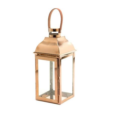Lantern Hanger - Darice Steel Copper Lantern with Hanger: 12.4 x 5 inches