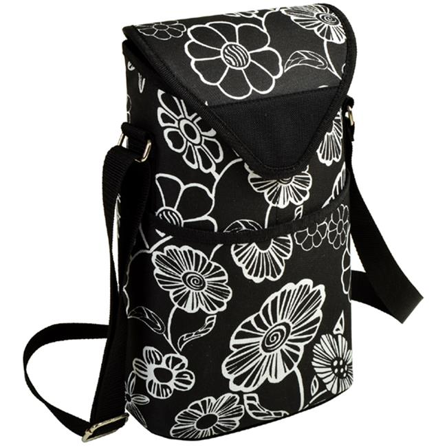 Night Bloom Two Bottle Tote - Night Bloom