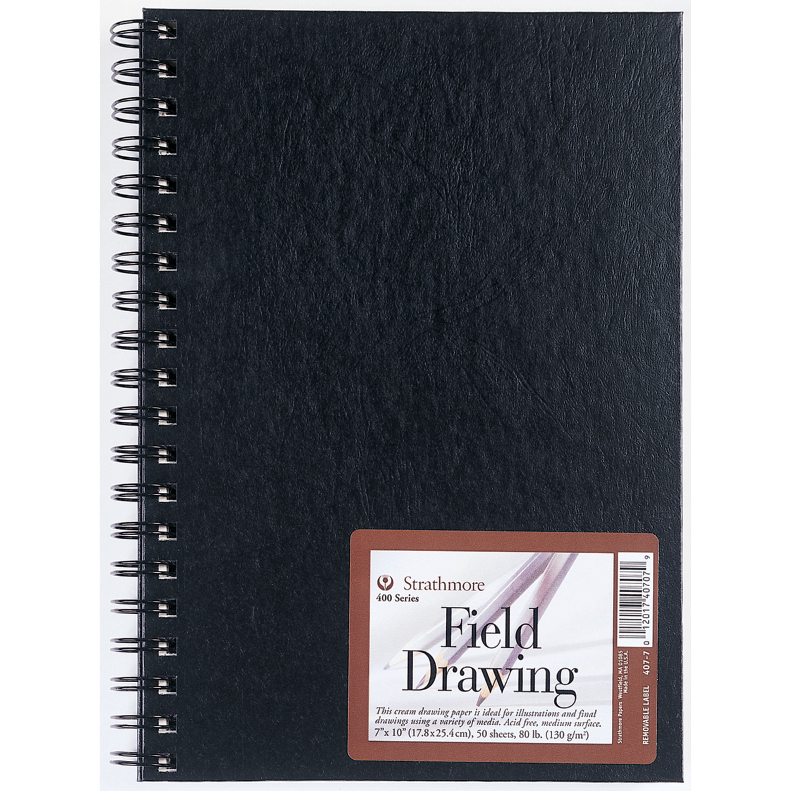 Strathmore Hardcover Field Drawing Sketchbook, Cream, 7in x 10in