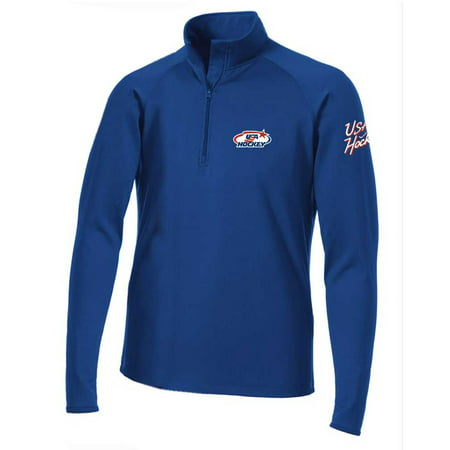 USA Hockey Men's 1/2 Zip Performance Pullover Top Athletic Shirt Color Choice
