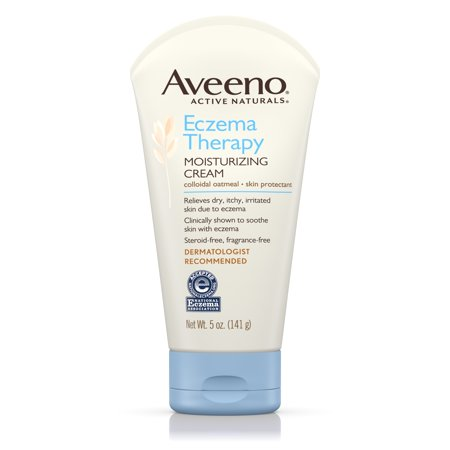 Aveeno Eczema Therapy Moisturizing Cream Relieves Dry Itchy Skin  5 Oz