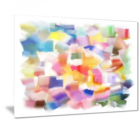 DESIGN ART Designart 'Colorful Stain Design without Grid' Abstract Painting Metal Wall Art ()
